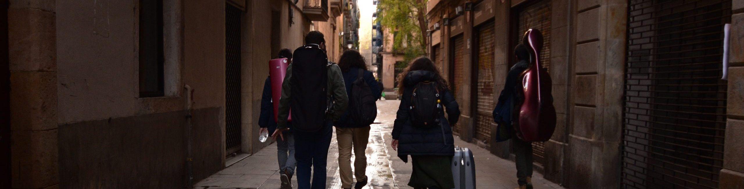 Enesmble Anacronía en el Barri Gotic de Barcelona